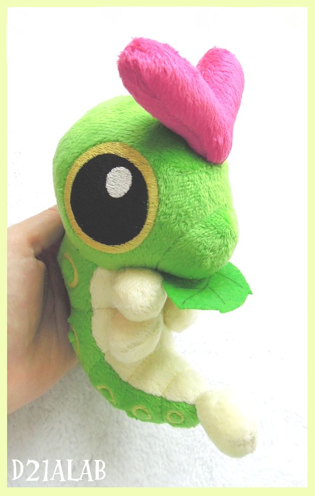 Caterpie Plush by d215lab.deviantart.com on @deviantART I want one so so much.