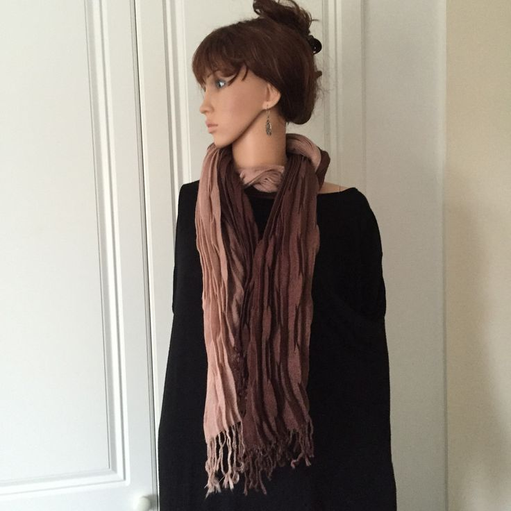 Scarf by Morsta of London in Chocolate Brown shading into a Mocha Cream
