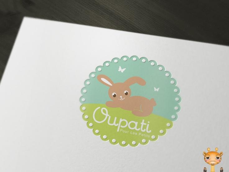 Oupati  #logo #design #baby #kids #bunny #behance #rabbit #cute #sweet #baby #kids #children #stocklogos #brandcrowd #designer