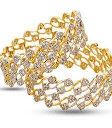 Buy Gold Cubic Zirconia bangles-and-bracelets bangles-and-bracelet online