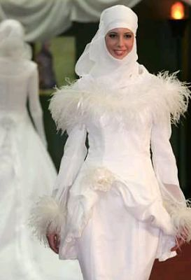 Muslim Wedding Dresses for Brides | Between You and Me.....: Muslim Women's Bridal Gown and make-ups