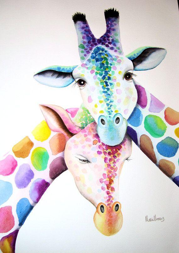 25+ best ideas about Giraffe painting on Pinterest   Giraffe art ...