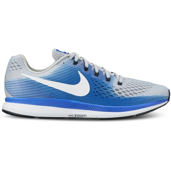 Nike Men's Air Zoom Pegasus 34 Wide Running Sneakers from Finish Line ($110) ❤ liked on Polyvore featuring men's fashion, men's shoes, men's sneakers, mens wide width sneakers, mens running shoes, mens wide sneakers, mens wide shoes and mens shoes