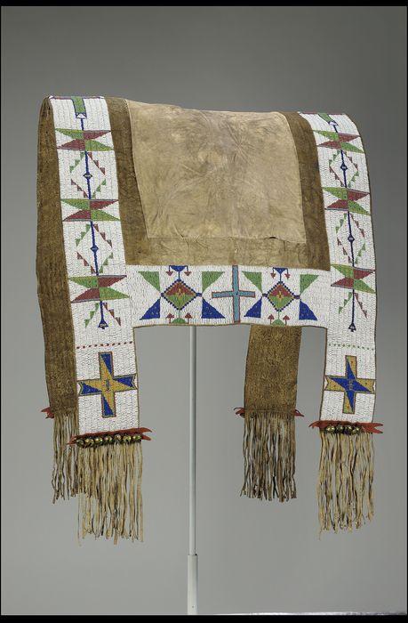 Saddle Blanket, probably Lakota, circa 1890