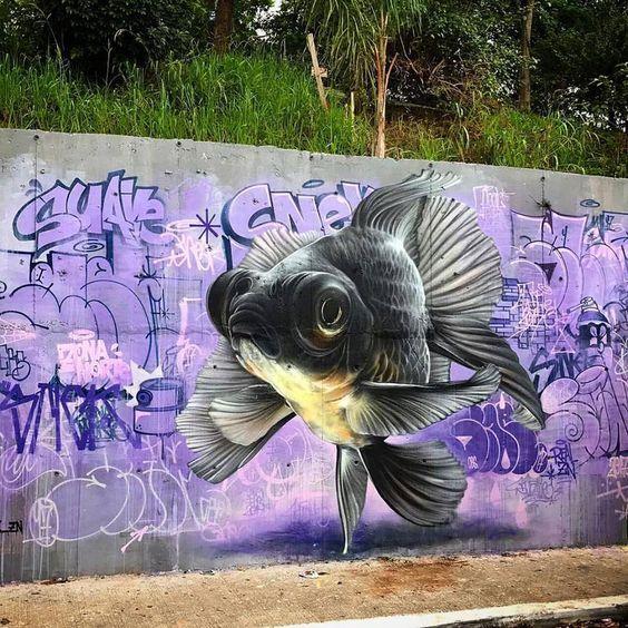 street art Snek in São Paulo , Brazil