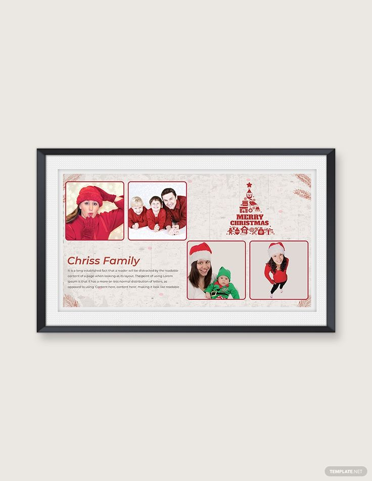 Free Modern Christmas Family Photo Card Template in 2020 ...