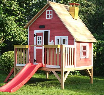 Love this unique Crooked Kids Playhouse With Slide £689.99.  http://www.cruxbaby.co.uk/shop/toddlers-kids/crooked-penthouse-with-slide-2/