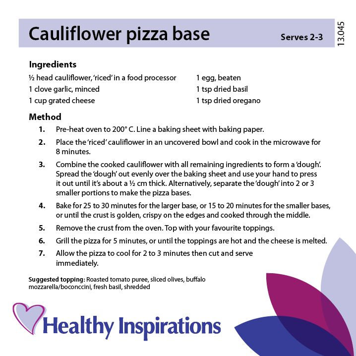 Cauliflower pizza base #healthyinspirations #healthyrecipes