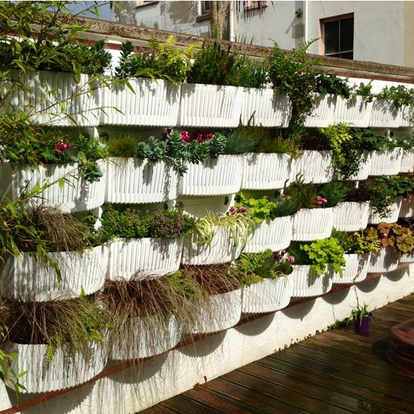 Lovely Living Wall Planter White  System By Woolly Pockets