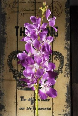 Silk Vandas Orchids Lavender