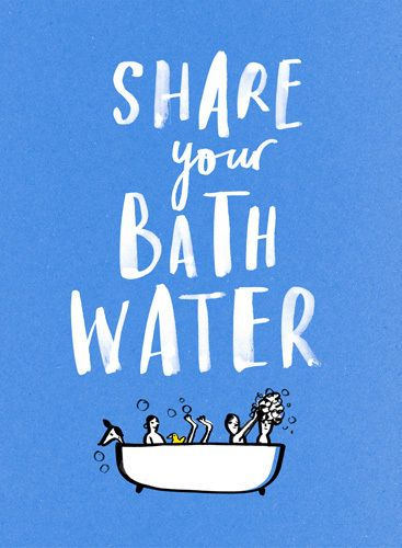 Share by Marion Deuchars #bathtime #EarthHour #DotheGreenThing