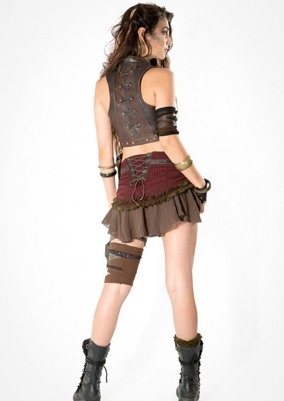 Edgy and complex, the Proto Punk Skirt is a unique addition to any fashion-forward, steampunk enthusiast's closet. By Fairyfloss