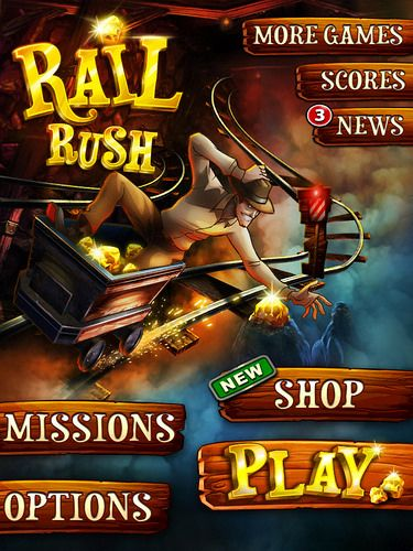 Rail Rush Main Menu: screenshots, UI