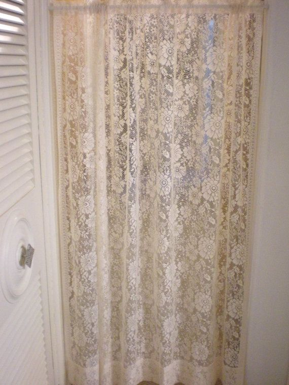 Set Of 2 Large Lace Curtain Panels Victorian Drapes