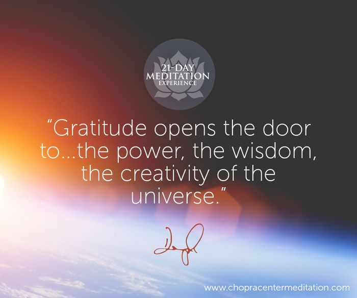 Join Oprah and Deepak to illuminate the power of grace and gratitude in your life. It's FREE to join Manifesting Grace through Gratitude, sign up now!