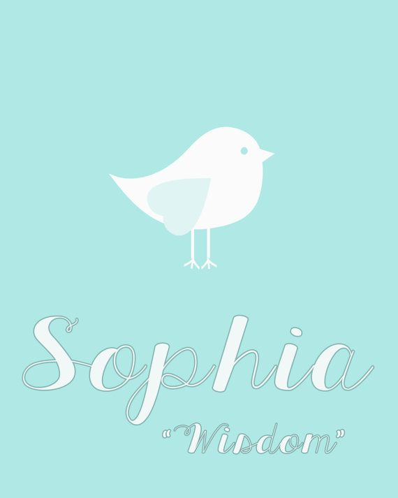 "Meaning of Sophia ""wisdom"""