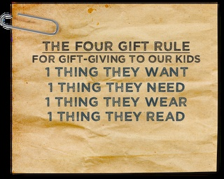 A good list to go by. My kids get waaaay too many things, some they don't even play with.