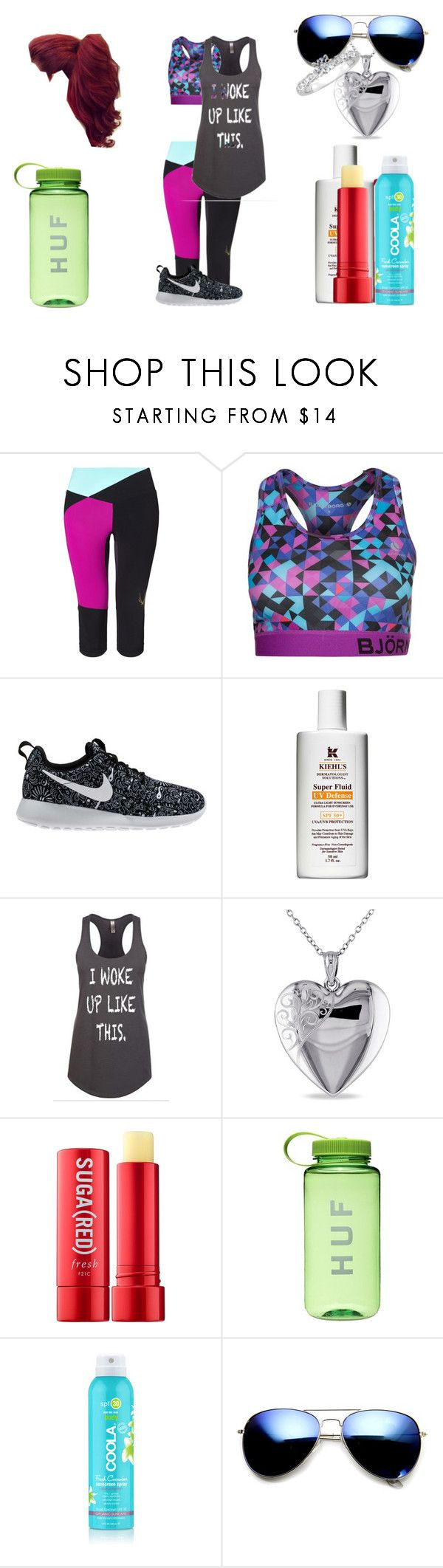 """Nia Hoshina Training"" by shestheman01 on Polyvore featuring Lucas Hugh, Björn Borg, NIKE, Kiehl's, Miadora, Fresh and ZeroUV"