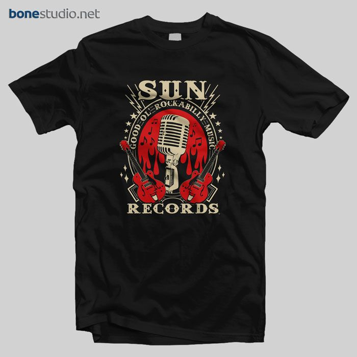 Sun Records T Shirt – Adult Unisex Size S-3XL