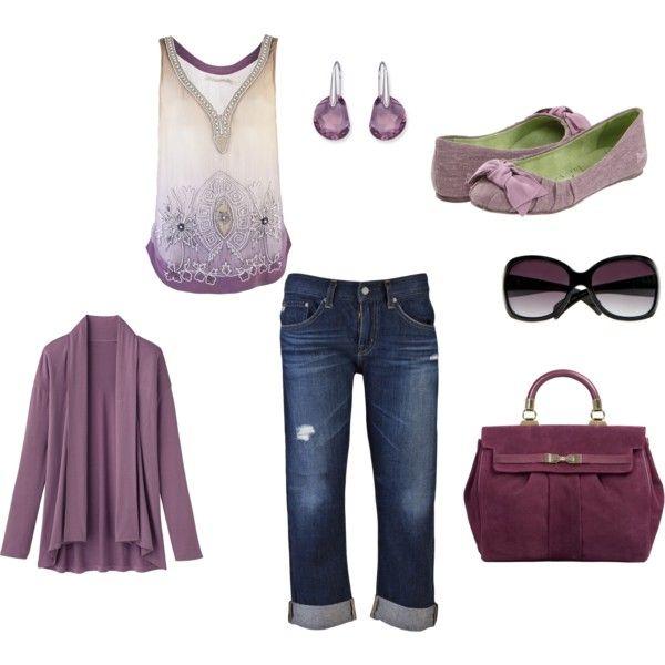 Plum Passion-love the Top & Shoes: Outfits Purple, Style, Purple Adorable, Purple Ish, Color, Purple Outfits
