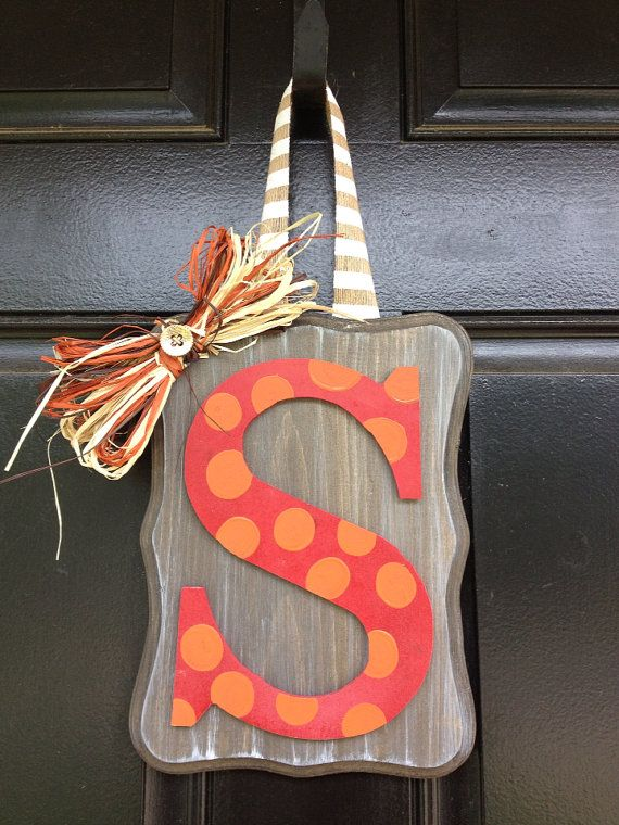 Monogram Fall Door Hang on Etsy, $25.00