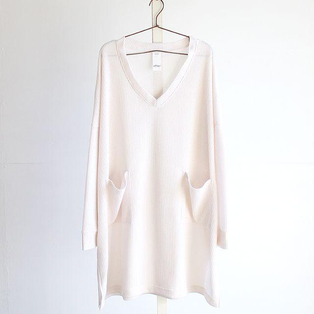 パッチポケット付きディープVネックオーバーサマーニットソー | メンズスカートなどモード系ファッションの通販 albino