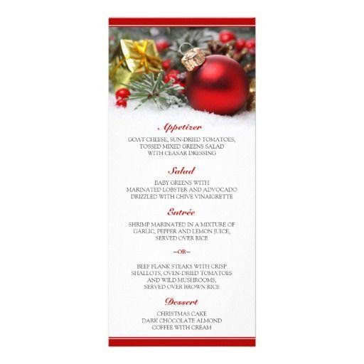 28 best christmas menus and table number cards images on pinterest menu cards christmas menus - Christmas menu pinterest ...