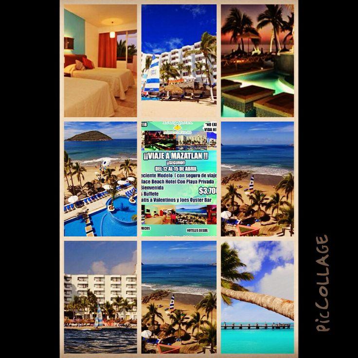 Viaje a Mazatlan incluye Autobús, Hotel, desayuno bufete, cóctel de bienvenida, entrada a antros por $3700 #piccollage #mar #malecón #mazatlan #mandalaybay #beer #beach #vacaciones #cerveza #camarónsabalo #hamaca #diversión #sol #señorfrogs #seteantoja #antros #playa #palmera #pacifico #pulmonia #perladelpacifico #próximasvacaciones #océanopalace #turista
