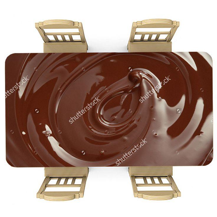 Tafelsticker Chocoladesaus | Maak je tafel persoonlijk met een fraaie sticker. De stickers zijn zowel mat als glanzend verkrijgbaar. Geschikt voor binnen EN buiten! #tafel #sticker #tafelsticker #uniek #persoonlijk #interieur #huisdecoratie #diy #persoonlijk #voedsel #eten #lekkernij #chocola #chocolade #bruin #snoep #lekker #keuken