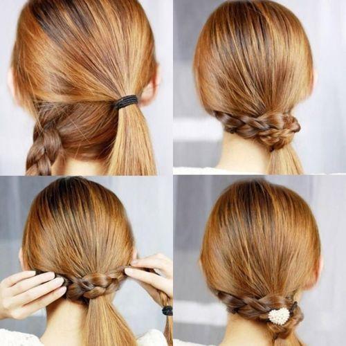 resultado de imagen para peinados sencillos para cabello largo recogido paso a paso