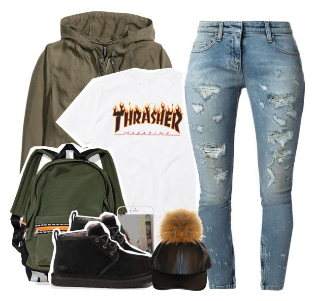 """"" by yngshorty ❤ liked on Polyvore featuring H&M, UGG Australia and Faith Connexion"