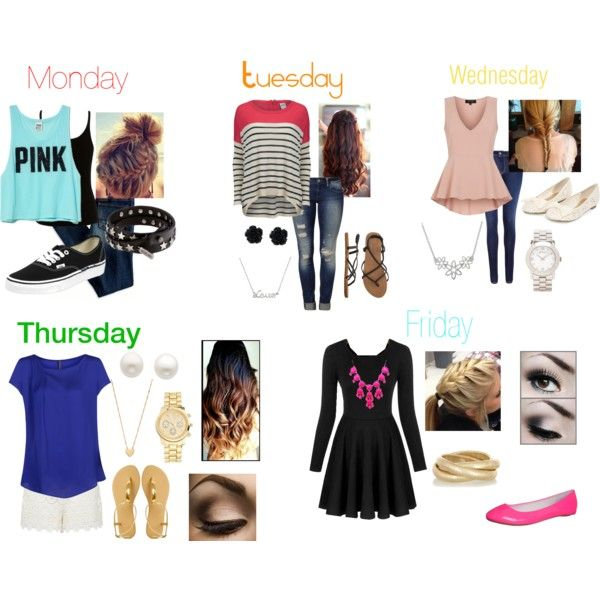 school outfits for the week