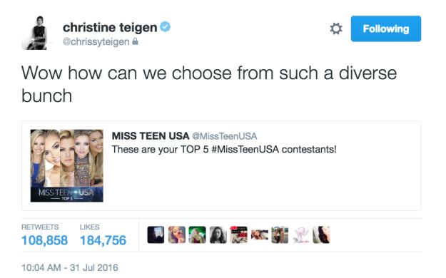 And Chrissy said what everyone was thinking.   29 Times Chrissy Teigen Clapped The Hell Back