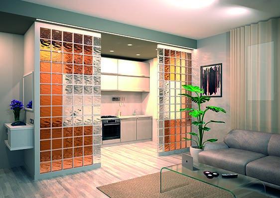 Para decorar tu salón o simplemente separar dos espacios. Una buena solución para pisos pequeños. Combinación de colores que dan calidez al ambiente.