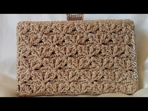 CLUTCH Tutorial passo passo - Crochet - YouTube                                                                                                                                                      More