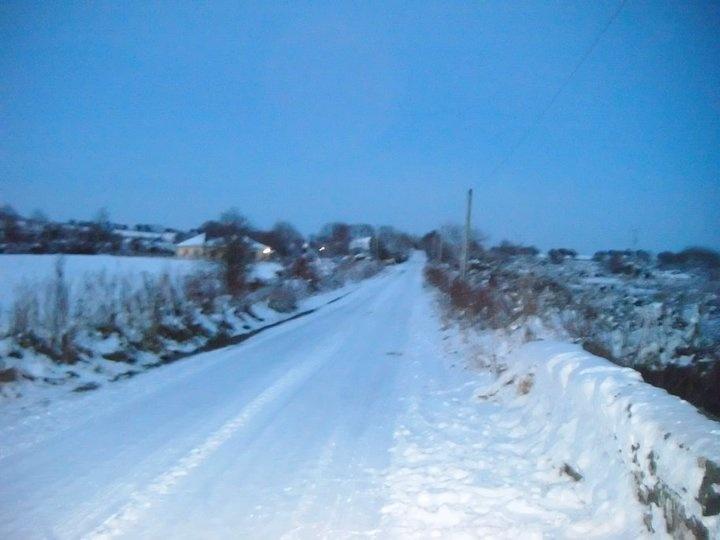 Snow in Ireland, last year!