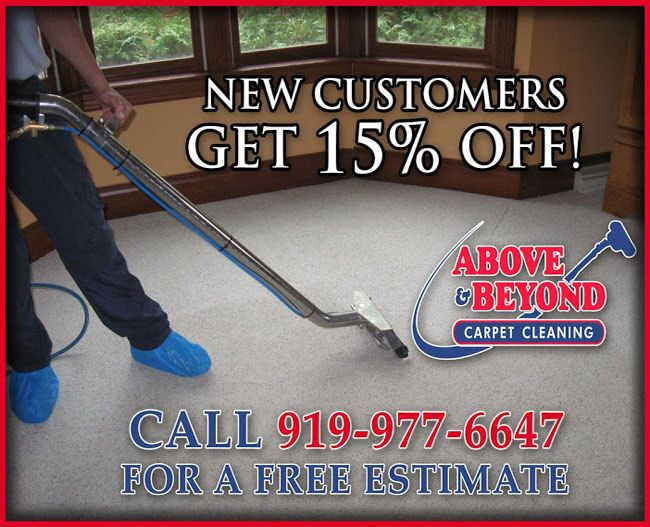 Carpet Cleaning Services Amazing Offer!   ALL NEW CUSTOMERS GET 15% OFF   Call us (919) 977-6647 today!