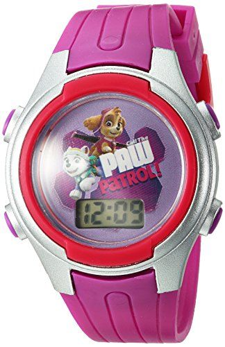 Nickelodeon  Girl's PAW Patrol Digital Display Plastic Paw Patrol Pink Watch Patrol PAWKD16030CTS  Lcd watch  Cylinder tin  Analog-quartz Movement  Case Diameter: 152.4mm  Not water resistant