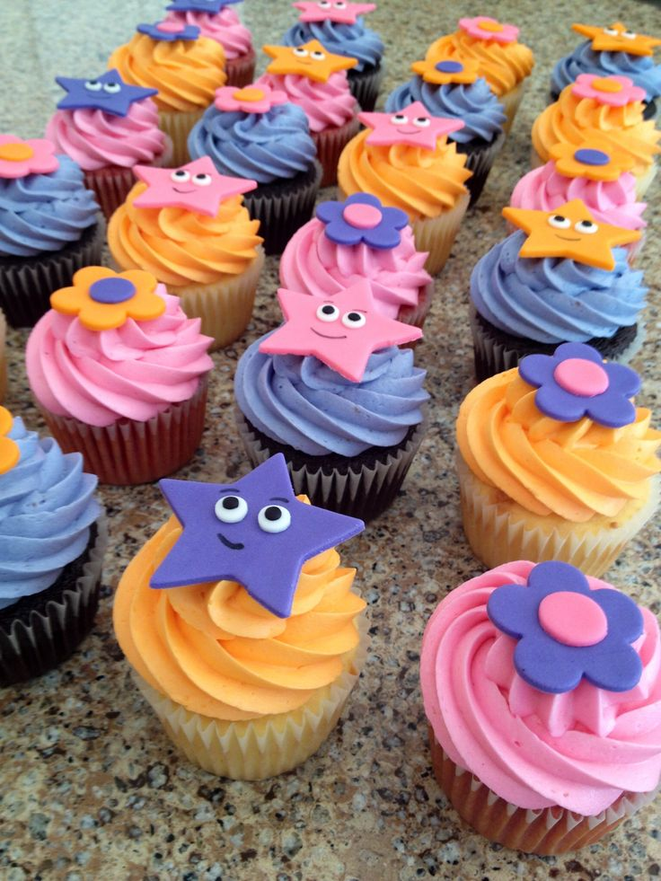 If I am not mistaken you can buy sugar candy eyes just like these. Dora cupcakes