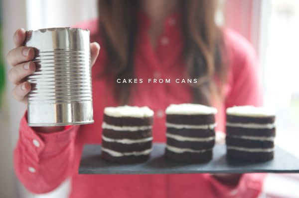 How to make a mini layer cake from a tin can! -