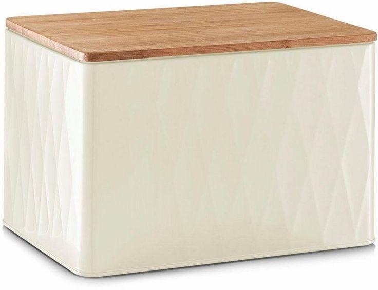 Home affaire Brotdose mit Bamboodeckel für 39,99€. moderne Brotdose, aus Metall hergestellt, mit hochwertigem Bamboo-Deckel bei OTTO