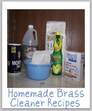 Homemade brass cleaner and polish recipes {on Stain Removal 101}