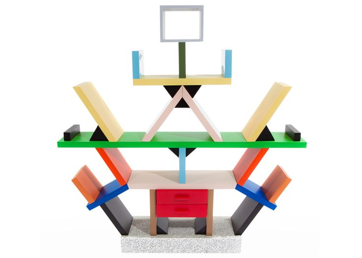 Postmodernism in design: Carlton bookcase by Ettore Sottsass