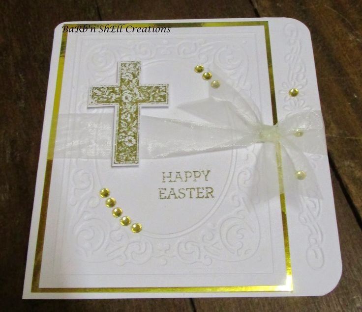 BaRb'n'ShEllcreations  - Stampin' Up Crosses of Hope - Easter Card - made by Shell