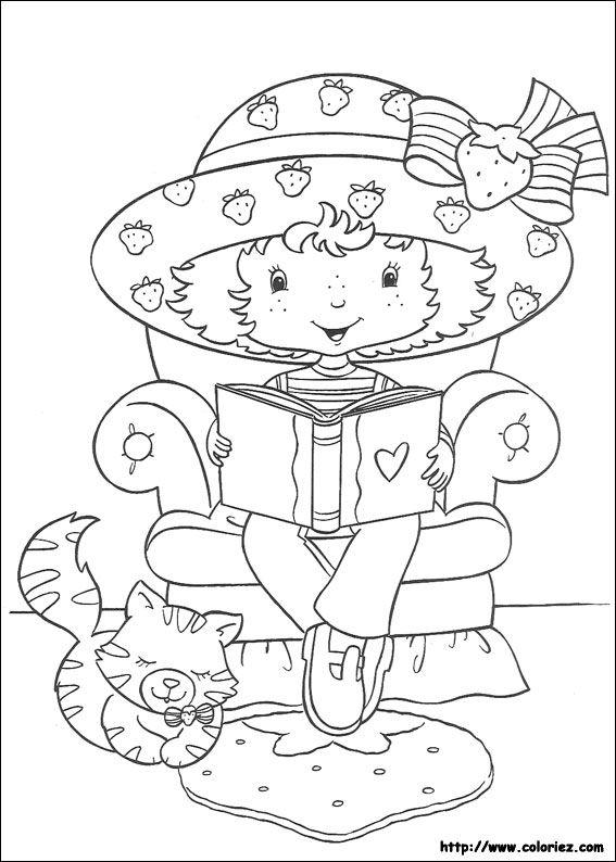 Coloriage Charlotte Aux Fraises Princesse à colorier - Dessin à imprimer
