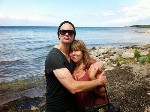 Alex Skarsgård and his mom My- Sweden   Alexander