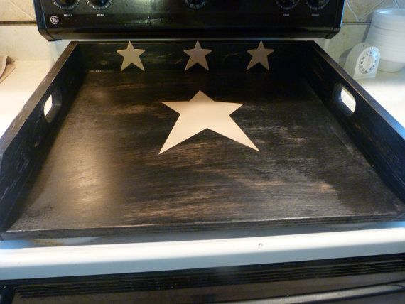 Primitive Kitchen, Noodle Board, Dough Board, Country Kitchen Board, Wooden Tray, Stove Top Cover, Laundry Room, Black Tan Board