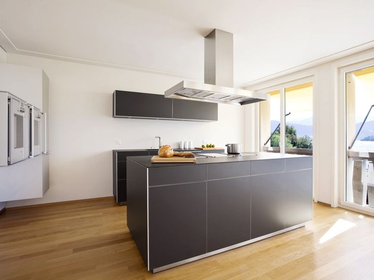 Bulthaup Kitchen Island Part - 46: A Warm Combination Of Bulthaup B3 Island And Fronts In Grey Aluminum, Wood  Floors,