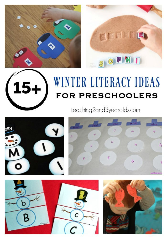 17 winter literacy activities that preschoolers will love! Free printables included. Fun for the classroom or homeschool.