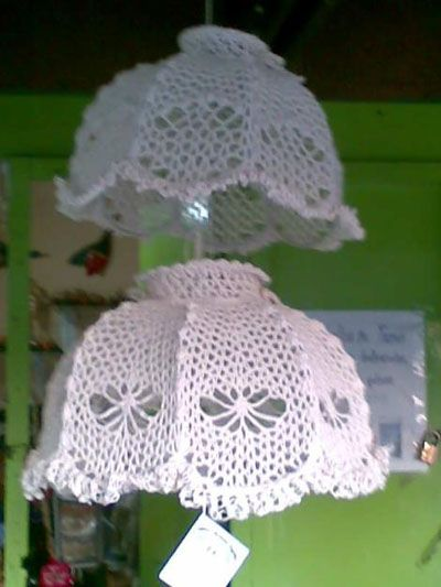 El Taller de Jazmín: Tendencia Deco: lámparas de ganchillo